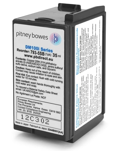 Pitney Bowes DM100i/200i Franking Machine Ink Cartridge 793-5SB
